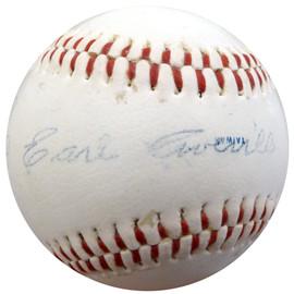 Earl Averill Autographed Seattle Mariners Logo Baseball Cleveland Indians Beckett BAS #A74700