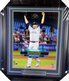 James Paxton Autographed Framed 16x20 Photo Seattle Mariners No Hitter MCS Holo Stock #135254
