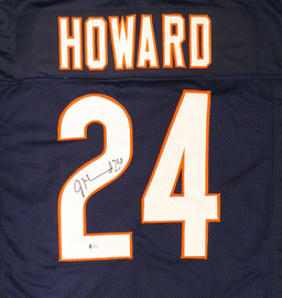 Chicago Bears Jordan Howard Autographed Blue Jersey Beckett BAS Stock #135364