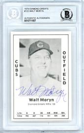 Walt Moryn Autographed 1979 Diamond Greats Card #122 Chicago Cubs Beckett BAS #10711557