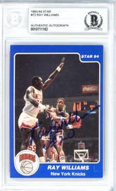 Ray Williams Autographed 1983-84 Star Card #72 New York Knicks Beckett BAS #10711162