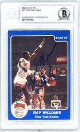 Ray Williams Autographed 1983-84 Star Card #72 New York Knicks Beckett BAS #10711163