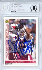 Johnny Bailey Autographed 1993 Upper Deck Card #391 Arizona Cardinals Beckett BAS #10711471