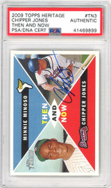 Chipper Jones Autographed 2009 Topps Heritage Card #TN3 Atlanta Braves PSA/DNA #41469899
