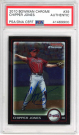 Chipper Jones Autographed 2010 Bowman Chrome Card #39 Atlanta Braves PSA/DNA #41469900
