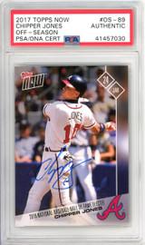 Chipper Jones Autographed 2017 Topps Now Card #OS-89 Atlanta Braves PSA/DNA #41457030