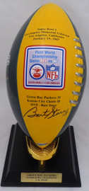 Bart Starr Autographed Green Bay Packers Porcelain Football TriStar Holo & Beckett BAS #A72535