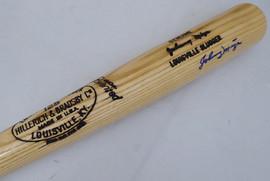 Johnny Mize Autographed Louisville Slugger Bat Cardinals, Yankees Beckett BAS #F22192