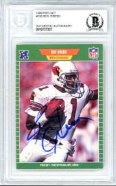Roy Green Autographed 1989 Pro Set Card #330 Phoenix Cardinals Beckett BAS #10737337