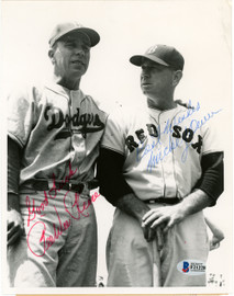 Pee Wee Reese & Mickey Owen Autographed 7x9 Photo Beckett BAS #F21228