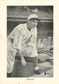 Earle Mack Autographed 7x10 Photo Philadelphia A's Beckett BAS #F21279