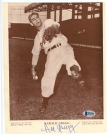 Harold Gregg Autographed 8x10 Magazine Page Photo Brooklyn Dodgers Beckett BAS #F21305