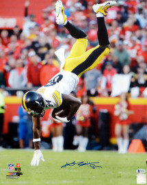 Antonio Brown Autographed 16x20 Photo Pittsburgh Steelers Beckett BAS Stock #138207
