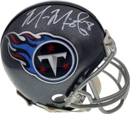 Marcus Mariota Autographed Tennessee Titans Mini Helmet Beckett BAS Stock #138234