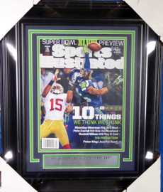 Richard Sherman Unsigned Framed Sports Illustrated SI Magazine Seattle Seahawks The Tip Stock #138442