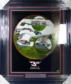 "Dale Earnhardt Sr. Autographed Framed Sam Bass Print Lithograph Photo ""360 degrees"" Beckett BAS #A88634"