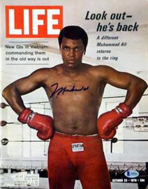 Muhammad Ali Autographed Life Magazine Beckett BAS #A08494