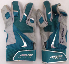 Robinson Cano Autographed Seattle Mariners Game Used Nike Batting Gloves With Signed Certificate SKU #138702