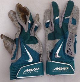 Robinson Cano Autographed Seattle Mariners Game Used Nike Batting Gloves With Signed Certificate SKU #138703