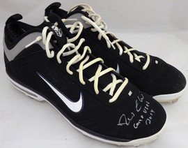 """Robinson Cano Autographed Seattle Mariners Game Used Nike Baseball Cleats With Signed Certificate """"2014 Game Used"""" SKU #138705"""