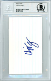 Chipper Jones Autographed 3x5 Index Card Atlanta Braves Beckett BAS #10734133