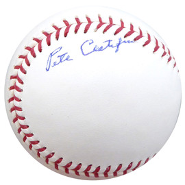 Pete Castiglione Autographed Official MLB Baseball Pittsburgh Pirates, St. Louis Cardinals Beckett BAS #F26458