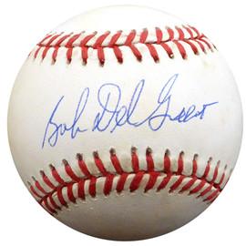 "Bob ""Bobby"" Del Greco Autographed Official AL Baseball New York Yankees, Philadelphia Phillies Beckett BAS #F26633"