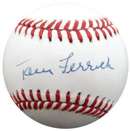 Tom Ferrick Autographed Official AL Baseball New York Yankees Beckett BAS #F26655