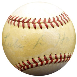 Luke Hamlin Autographed Official Warren Giles NL Baseball Brooklyn Dodgers, Detroit Tigers Beckett BAS #F29103