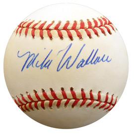 Mike Wallace Autographed Official NL Baseball New York Yankees, St. Louis Cardinals Beckett BAS #F27813