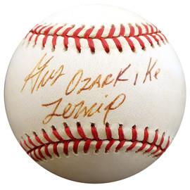 "Gus Zernial Autographed Official AL Baseball Philadelphia A's ""Ozark Ike"" Beckett BAS #F29521"