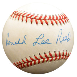 """""""Ron"""" Ronald Lee Reed Autographed Official NL Baseball Philadelphia Phillies Full Name Beckett BAS #F29880"""