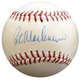 Pete Mackanin Autographed All Star Baseball Philadelphia Phillies, Montreal Expos Beckett BAS #F29970