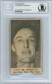 Clarence Podbielan Autographed 2x3.5 Newspaper Page Photo Brooklyn Dodgers Beckett BAS #10837258
