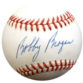 Bobby Bragan Autographed Official NL Baseball Brooklyn Dodgers Beckett BAS #E48042