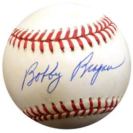 Bobby Bragan Autographed Official NL Baseball Brooklyn Dodgers Beckett BAS #E48043