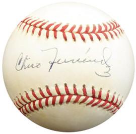 Chico Fernandez Autographed Official NL Baseball Brooklyn Dodgers, Detroit Tigers Beckett BAS #E48146