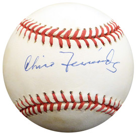 Chico Fernandez Autographed Official NL Baseball Brooklyn Dodgers, Detroit Tigers Beckett BAS #E48147