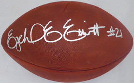 Ezekiel Elliott Autographed Official Leather NFL Football Dallas Cowboys Beckett BAS Stock #143244