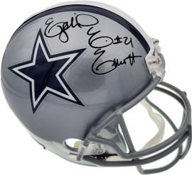 Ezekiel Elliott Autographed Dallas Cowboys Full Size Replica Helmet Beckett BAS Stock #143249