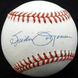 Spider Jorgensen Autographed Official NL Baseball New York Giants, Brooklyn Dodgers Beckett BAS #E48264