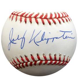 Johnny Klippstein Autographed Official NL Baseball Los Angeles Dodgers, Cincinnati Reds Beckett BAS #E48283