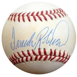 Frank Robinson Autographed Official AL Baseball Baltimore Orioles, Cincinnati Reds Beckett BAS #E48436