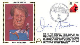 Jackie Smith Autographed First Day Cover Beckett BAS #E48979