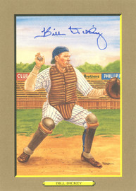 Bill Dickey Autographed Perez-Steele Great Moments Postcard #37 New York Yankees Beckett BAS Stock #144265