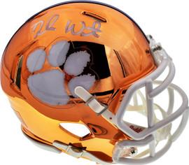 Deshaun Watson Autographed Clemson Tigers Orange Chrome Speed Mini Helmet Beckett BAS Stock #144512