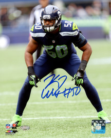 K.J. KJ Wright Autographed 8x10 Photo Seattle Seahawks MCS Holo Stock #144612