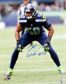 K.J. KJ Wright Autographed 16x20 Photo Seattle Seahawks MCS Holo Stock #144614