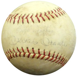 """Mickey Mantle Autographed Official Babe Ruth League Baseball New York Yankees """"Best Wishes"""" PSA/DNA #I88287"""