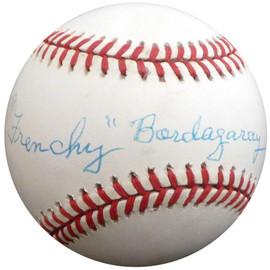 """Frenchy"" Bordagary Autographed Official NL Baseball Brooklyn Dodgers Beckett BAS #F26215"